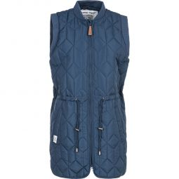 Weather Report Jonah Long Quilted Vest Dame