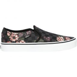 Vans Asher Flowers Slip-On Sneakers Dame
